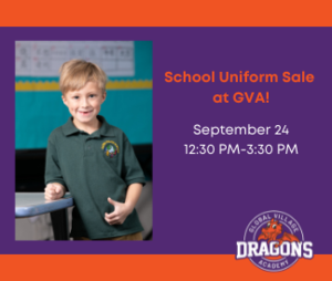 uniform sale 9-24-21 from 12:30-3:30