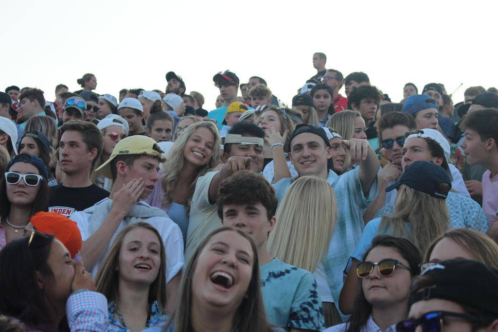 Students at a football game