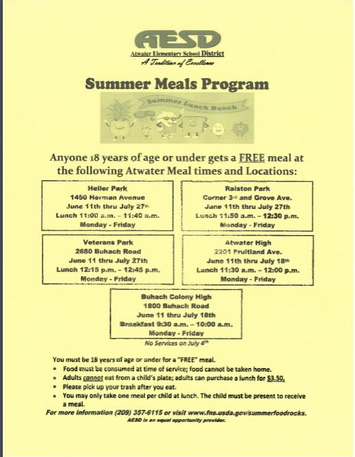 Meal Program Flyer(English)