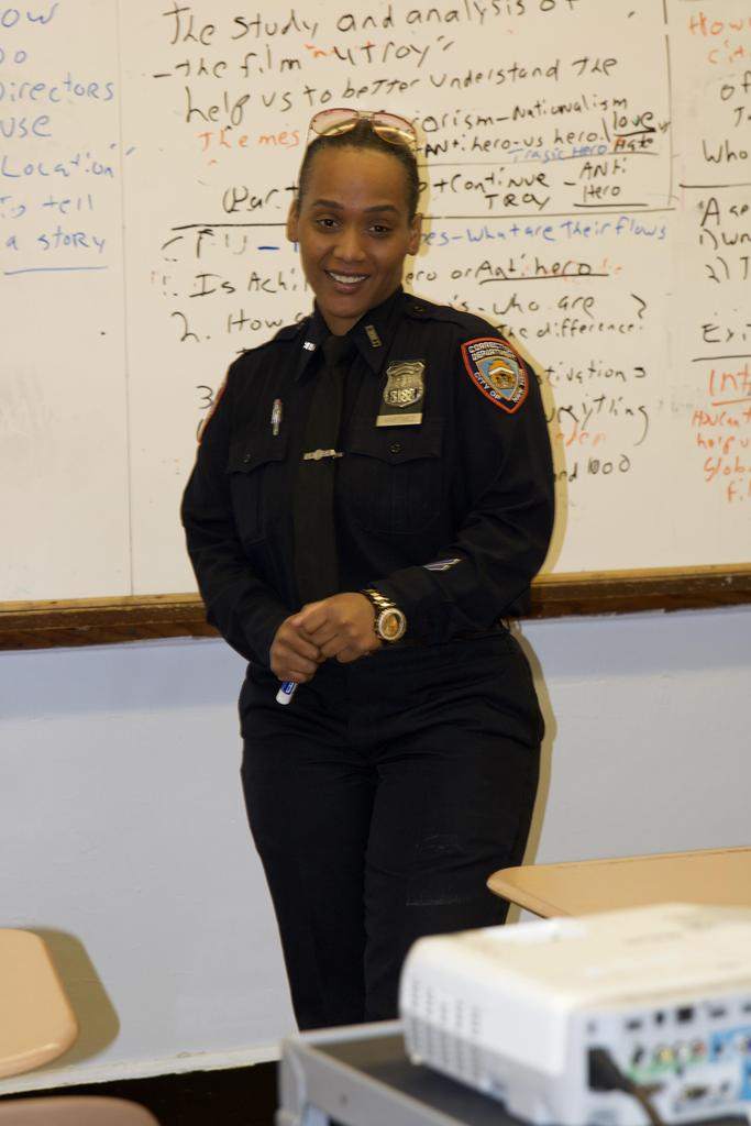 Correction officer smiling