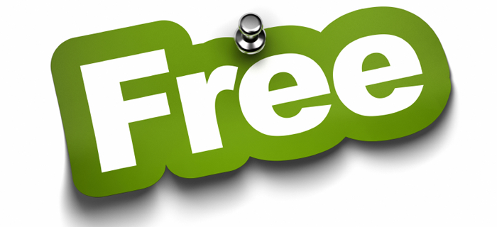 "This is a green and white graphic that reads, ""Free"""