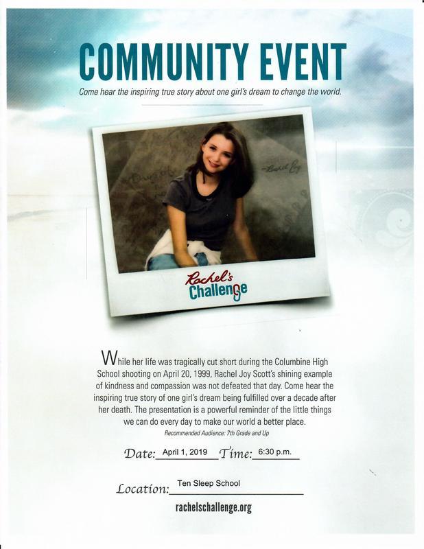 Rachel's Challenge - All School - Community Event Thumbnail Image