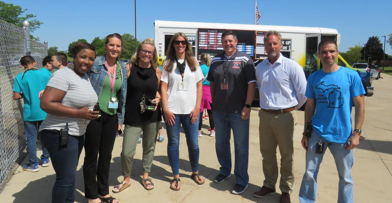 TK principals and assistants gather for the last day of school.