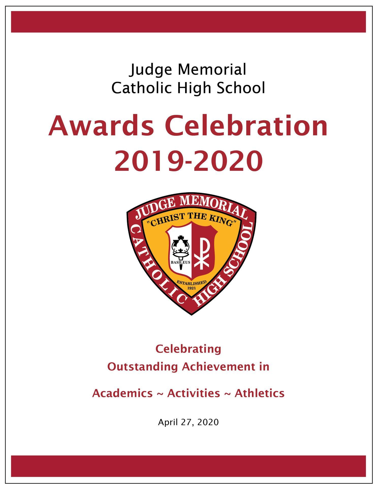 Awards Celebration Program 19-20