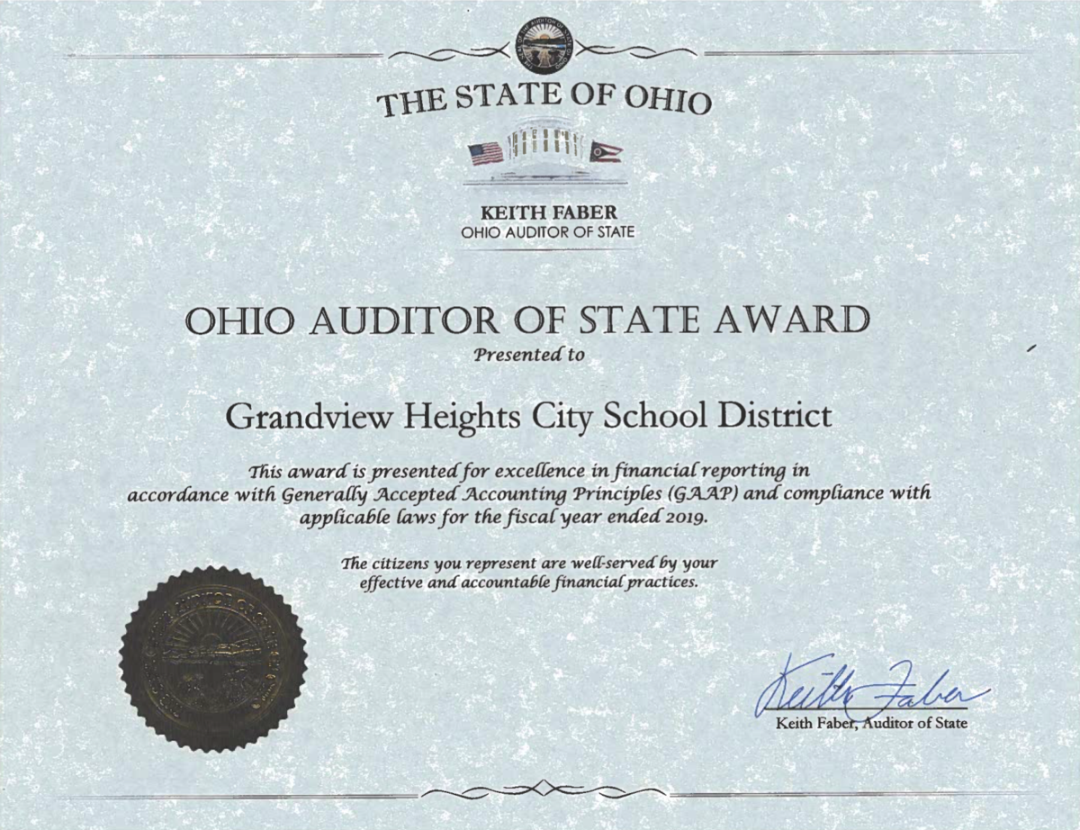 Auditor of State Award 2019