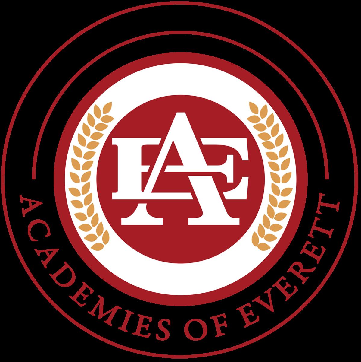 EHS Academy logo, circular with gold leafs