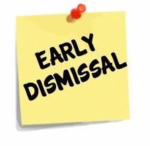 Sept. 1, 2021 - Early Dismissal