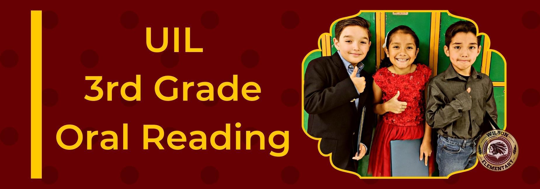3rd Grade Oral Reading