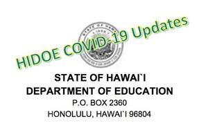 HIDOE COVID-19 updates