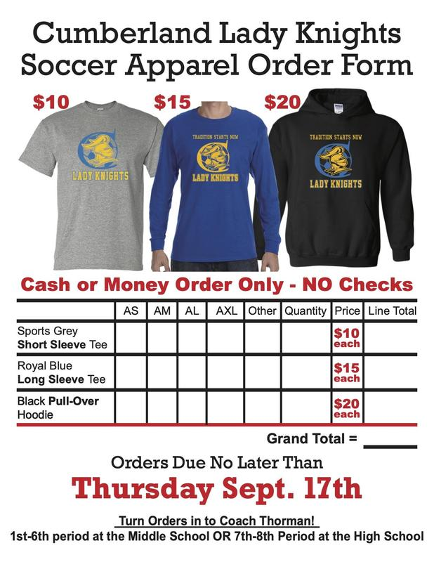 Soccer Apparel Order Form Featured Photo