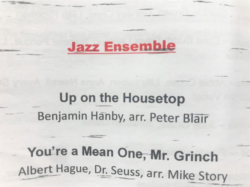 WLHS Jazz Ensemble Selections