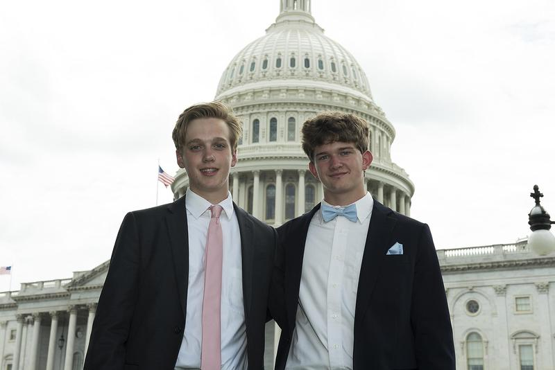 Rising B-L High School senior Devin Hall, pictured on the right, was among 71 students from across South Carolina who participated in the 2019 Washington Youth Tour.