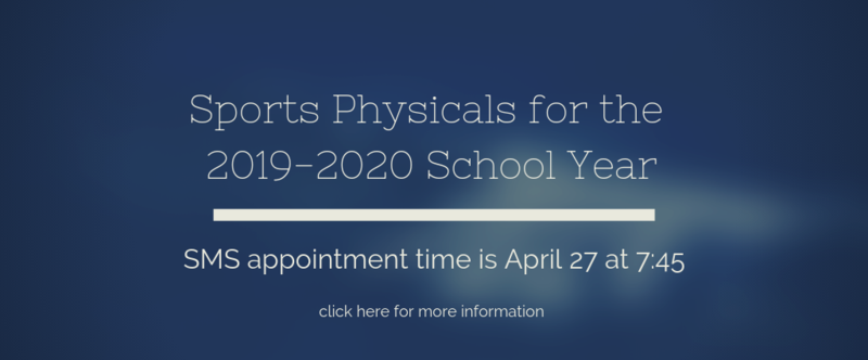 Sports Physicals 2019-2020 Thumbnail Image