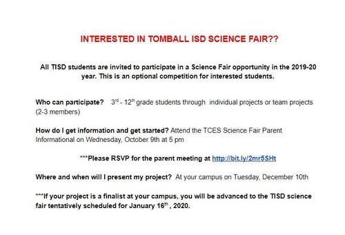 Interested in SCIENCE FAIR?