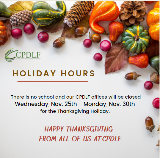 Happy Thanksgiving from CPDLF Featured Photo