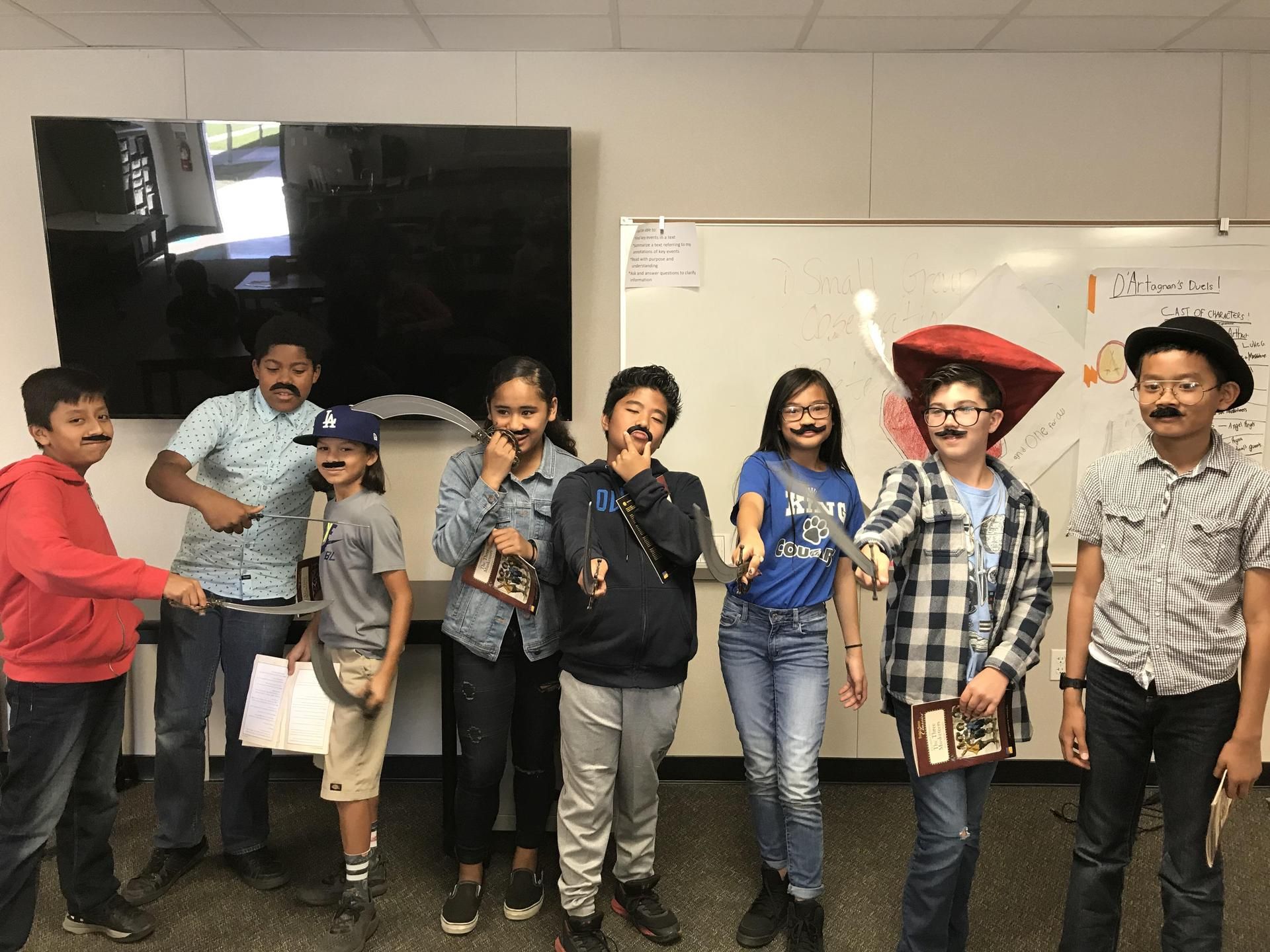A Reader's Theatre performance of The Three Musketeers
