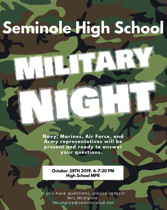 Military Night info