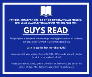 Guys Read October 12th 7:15-7:45