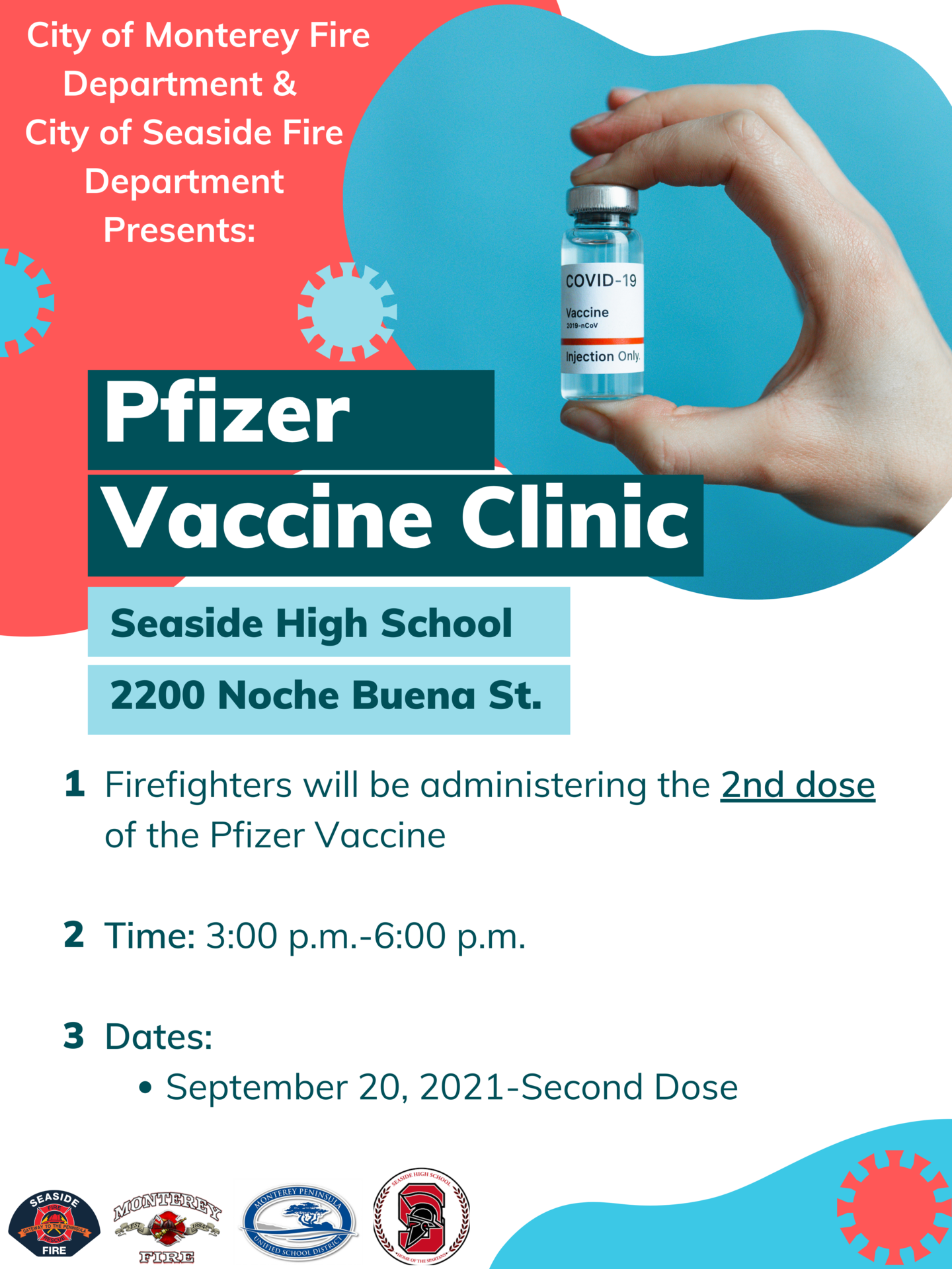 English Flyer for Vaccine Clinic