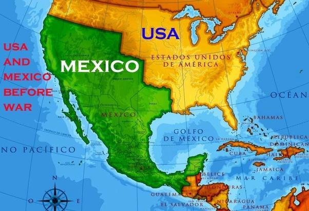 Era 6 Early Statehood Kacy Springer Frenship Middle School - Map-of-mexico-before-us-took-over