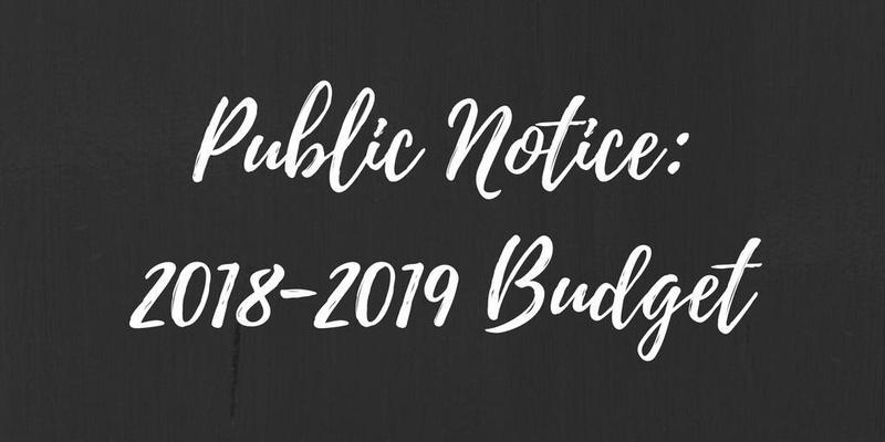 Public Notice: 2018-2019 Budget Thumbnail Image