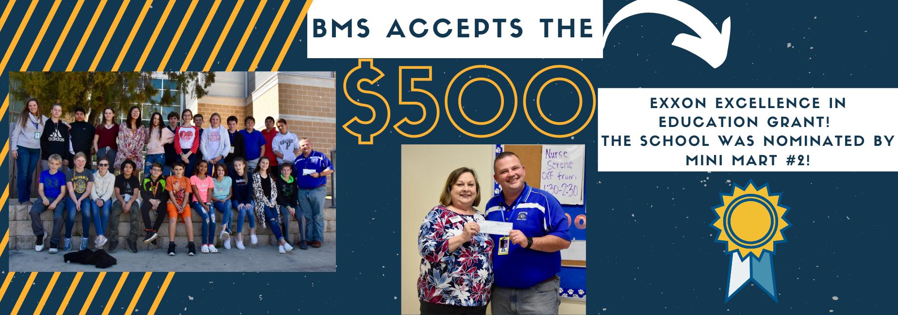 BMS grant award