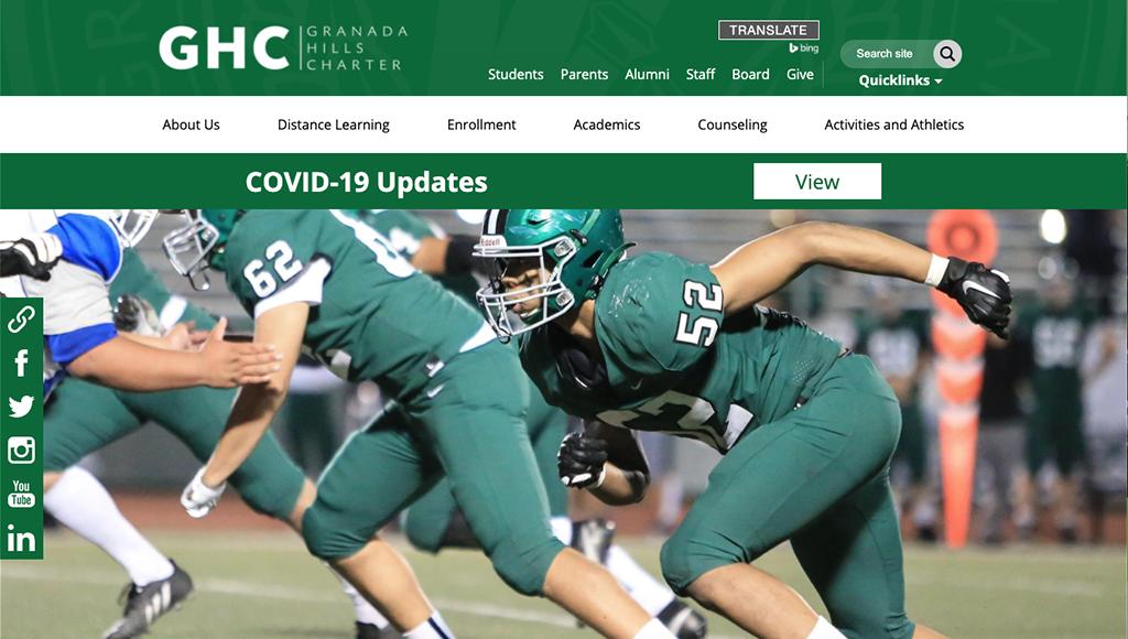 Granada Hills Charter website