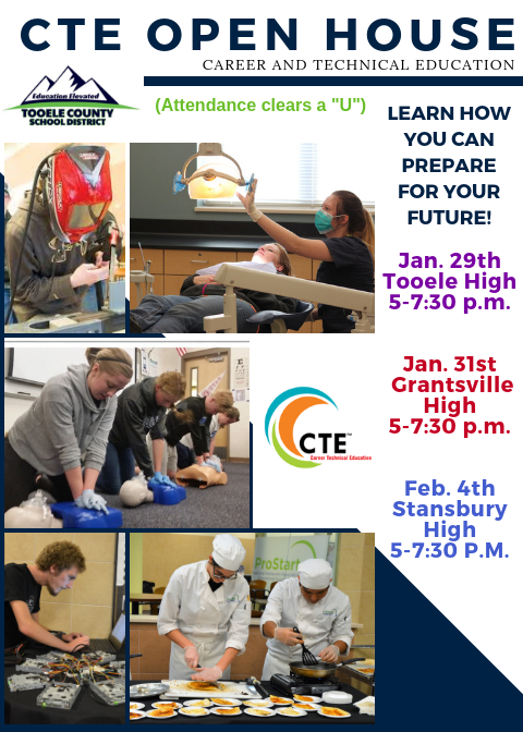 CTE Open House 2019 flyer