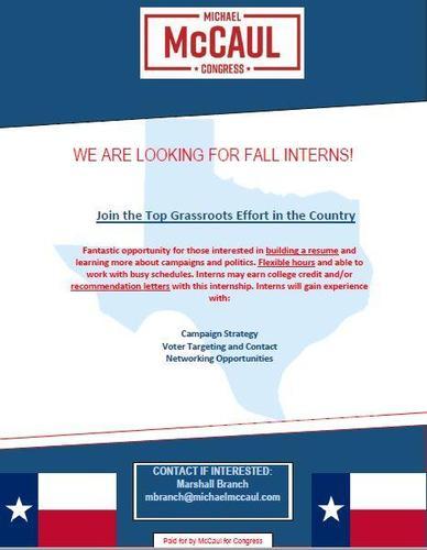 Fall Internship Opportunity