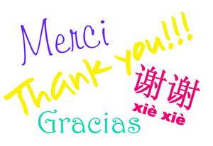 Thank you many languages