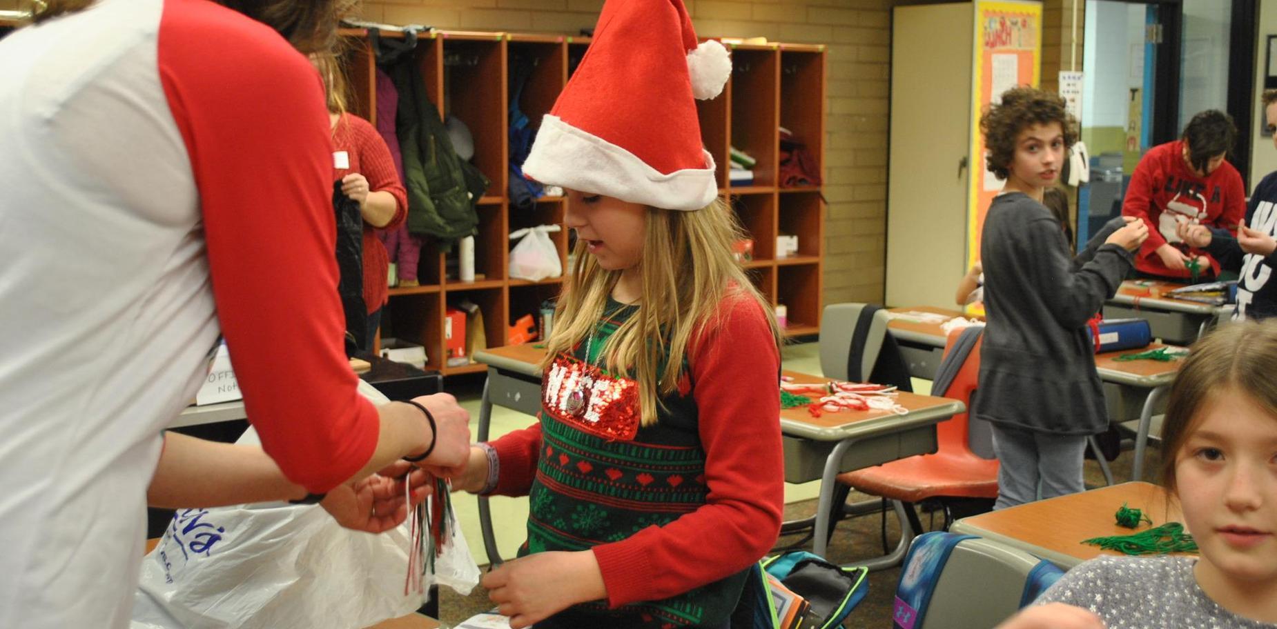 Students at Holiday Party