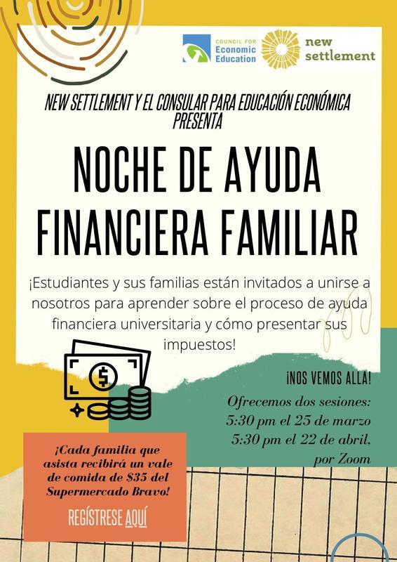 Noche De Ayuda Financiera Familiar Featured Photo