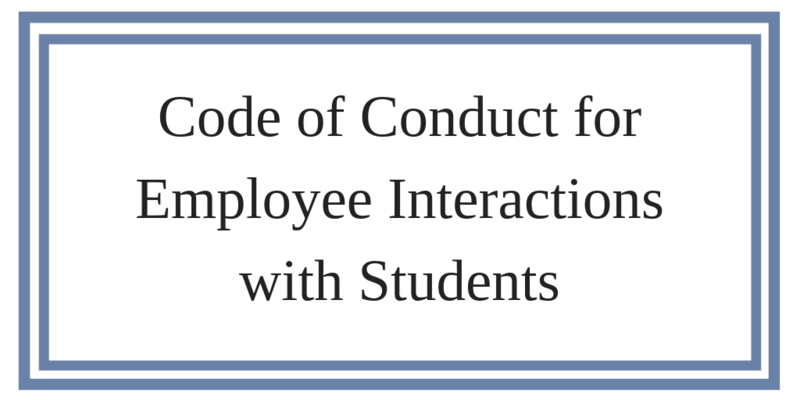 Code of Conduct for Employee Interactions with Students Featured Photo