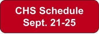 Week of September 21-25