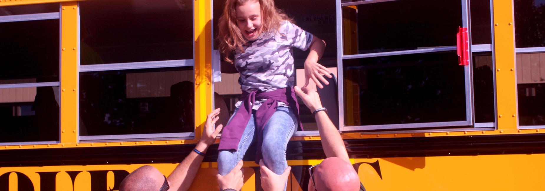 kid on bus