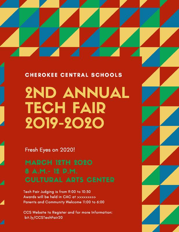 CCS Tech Fair 2020 flyer
