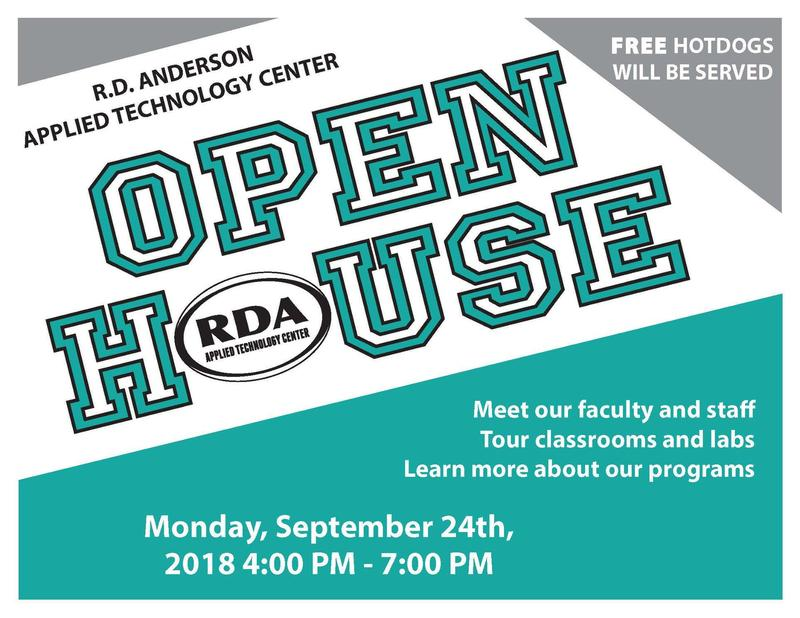 RDA Flyer with Open House information. It is the same info that is in the text box.