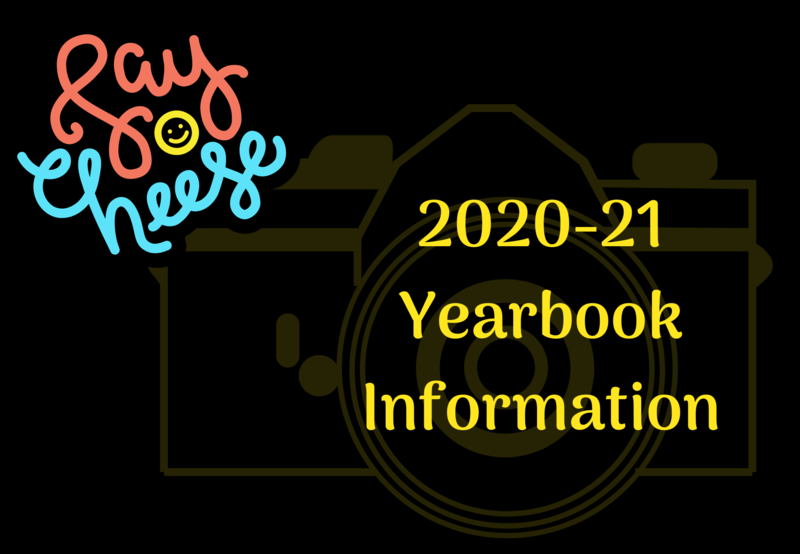 Camera in background. Text says 2020-21 Yearbook Information.