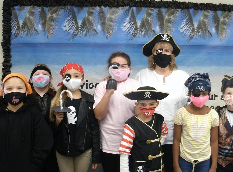 Mrs. Cranford's students dressed as pirates for