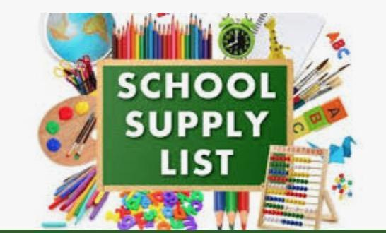 Supply Lists 2020-2021 Featured Photo