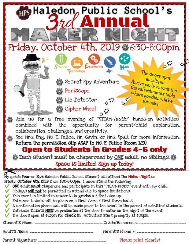 Maker Night Flyer/Permission Slip 10-4