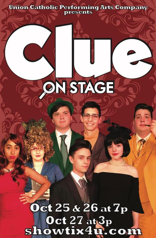 Union Catholic Performing Arts Company Presents Clue on Stage Based on the Screenplay by Jonathan Lynn Thumbnail Image