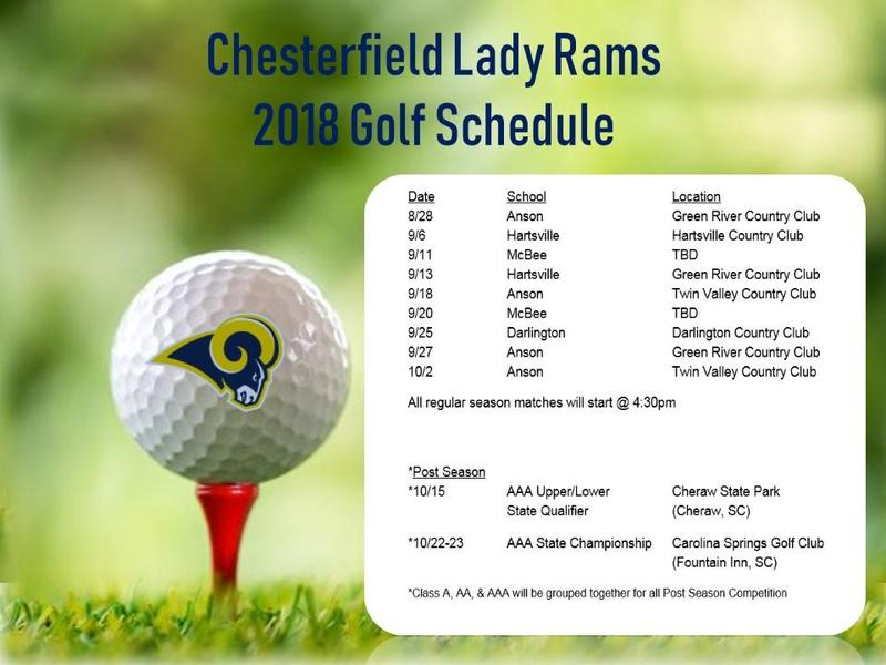 2018 Lady Rams Golf Schedule Featured Photo