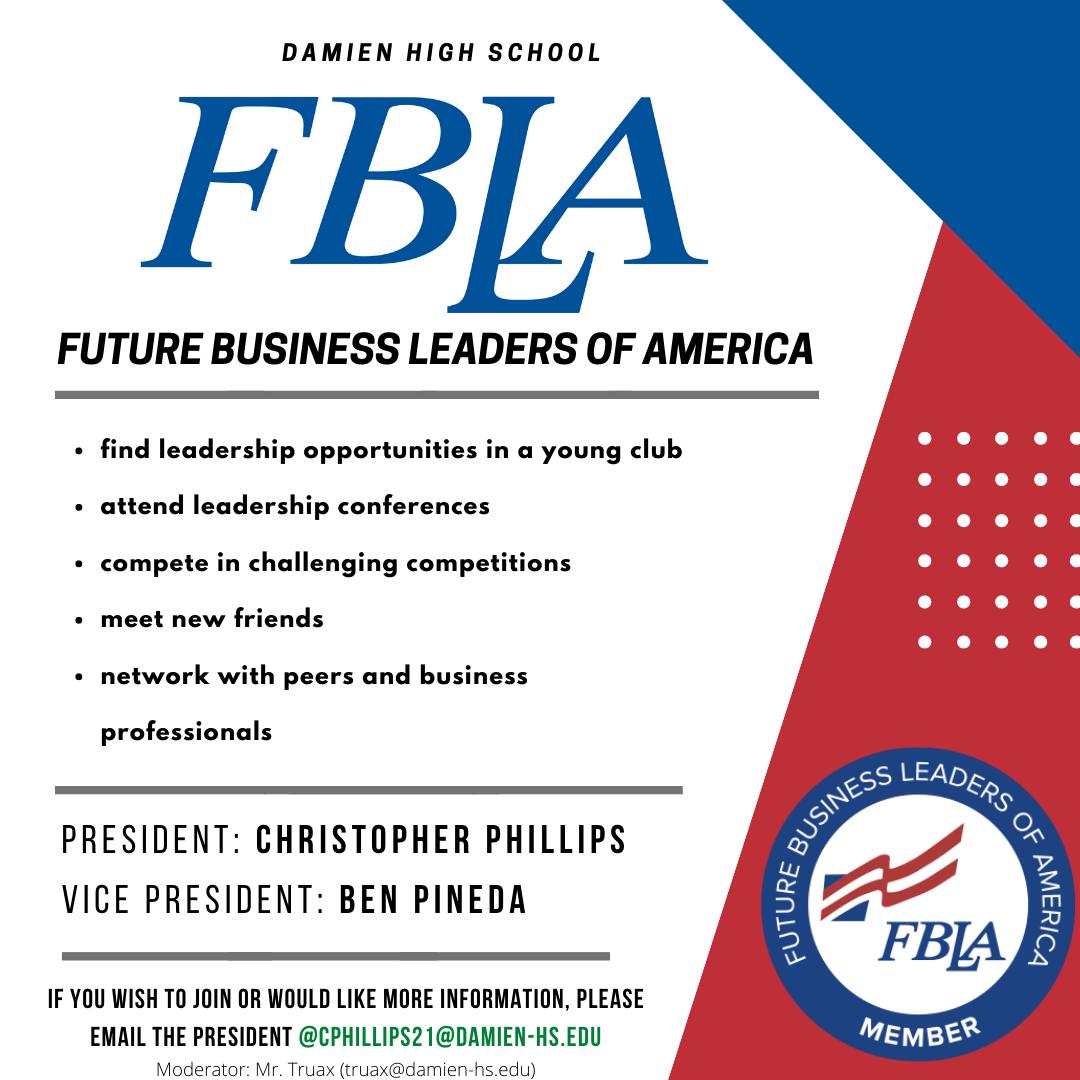 Future Business Leaders Of America Fbla Club Day 2020 Damien High School