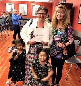 Single mom Nathalia Batista earns U.S. citizenship.