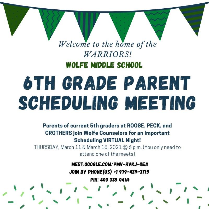 6th Grade Meeting