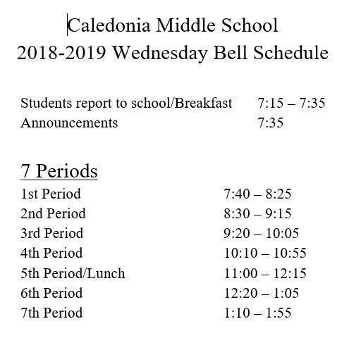 wed bell schedule