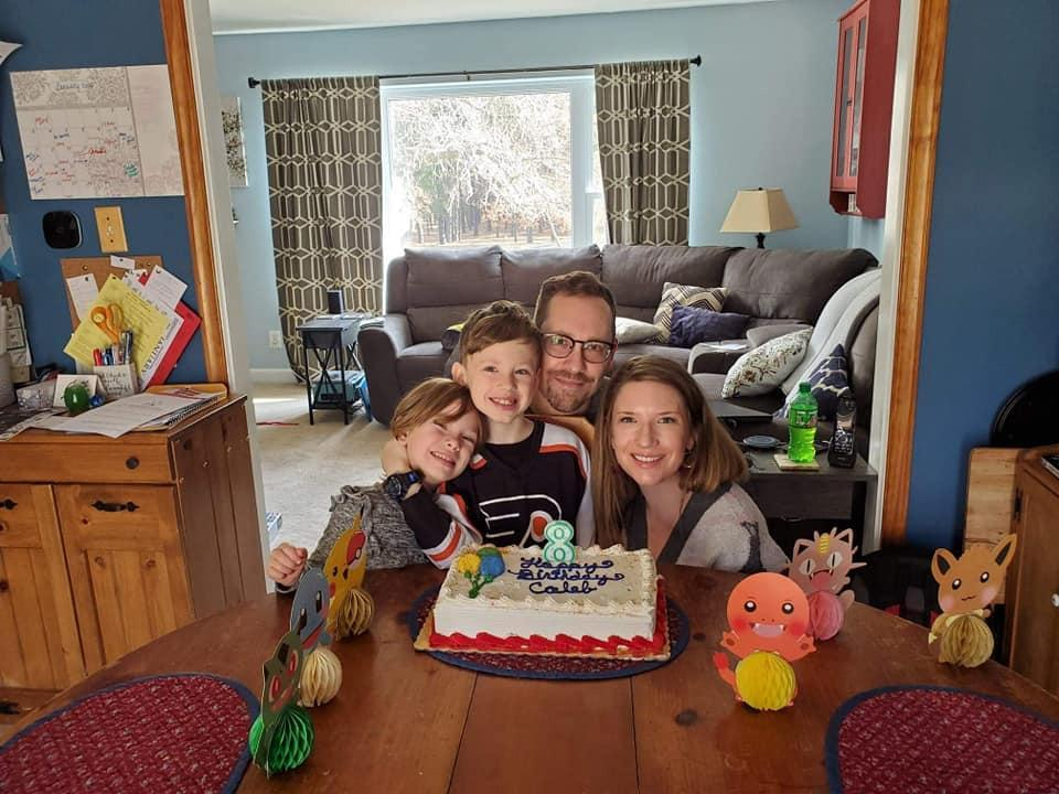 Here is a picture of the Hoppel family!