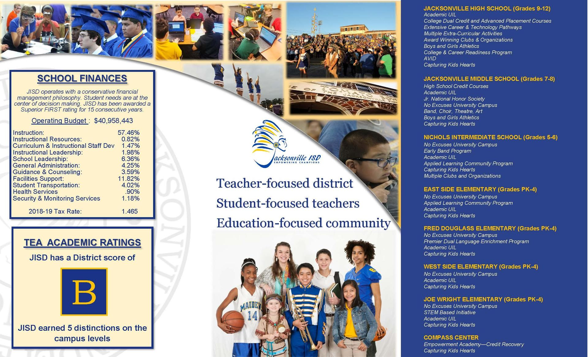 page 2 of informational brochure