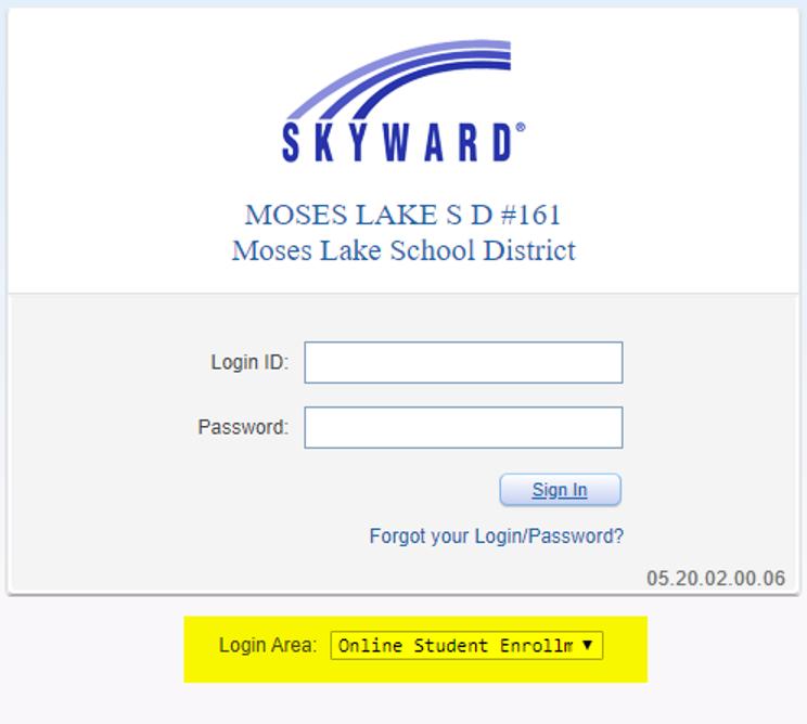Student Enrollment screenshot